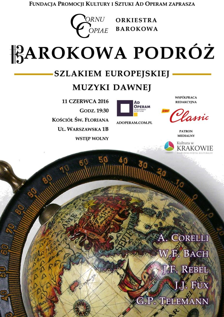 """Nowy koncert Cornu Copiae: """"Barokowa podróż. Szlakiem europejskiej muzyki dawnej"""""""