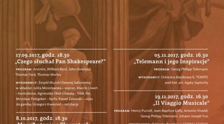 """Muzyka Dawna w Wilanowie """"Il Viaggio Musicale"""""""